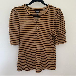 WHO WHAT WEAR puff sleeve top